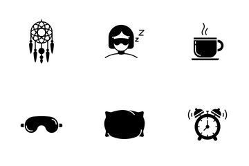 Sleeping Glyph Icon Pack