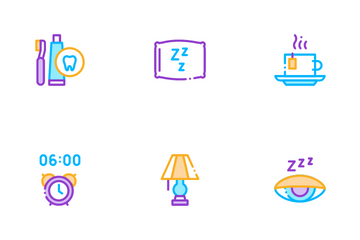 Sleeping Time Devices Icon Pack