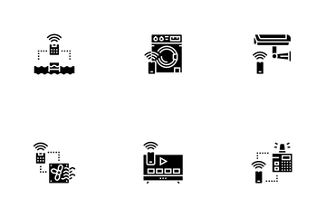 Smart Home Equipment Icon Pack