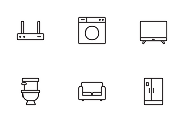 Smart Home Furniture Icon Pack