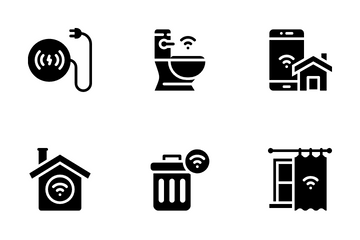 Smart Home Glyph Icon Pack