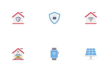 Smart Home Technology Flat Vol 1 Icon Pack