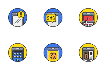 Smartphone Functions Icon Pack