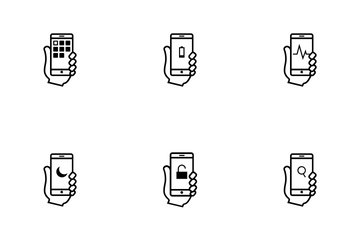 Smartphone Usablity - Outline Icon Pack