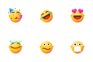 Smiles With Ears Icon Pack