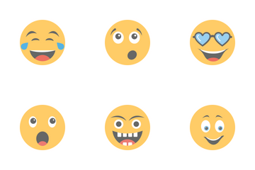 Smileys Flat Icons 1 Icon Pack