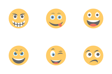 Smileys Flat Icons 3 Icon Pack