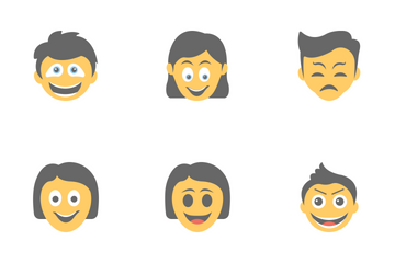 Smileys Flat Icons 4 Icon Pack