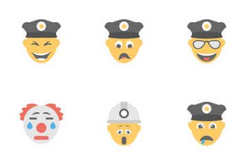 Smileys Flat Icons 7 Icon Pack