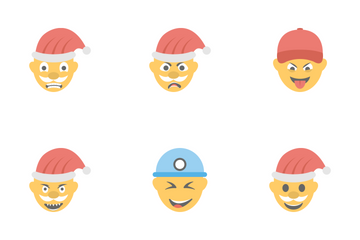 Smileys Flat Icons 8 Icon Pack