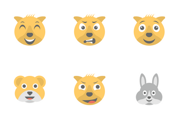 Smileys Flat Icons 9 Icon Pack