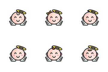 Smiling Baby Icon Pack