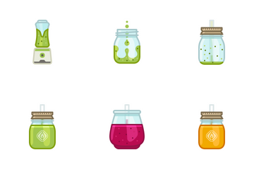 Smoothie Drinks Icon Pack