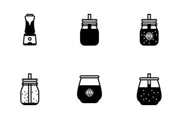 Smoothie Drinks (glyph) Icon Pack
