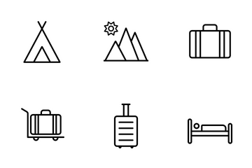 Smoothline Travel Icon Pack