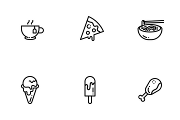 Snack And Fast Food Icon Pack
