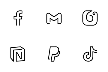Custom Social Brand Logos Icon Pack