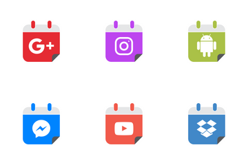 Social Flat Icon Pack