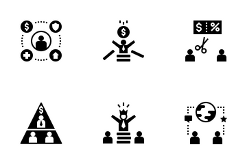 Social Inequality Icon Pack