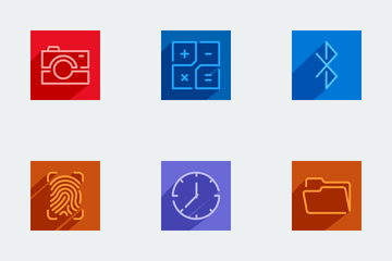 Flatline Color Shade Icon Pack