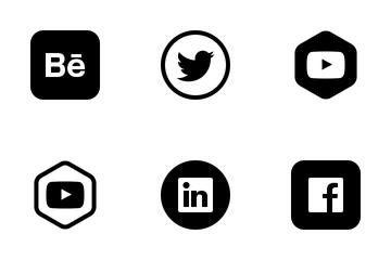 Social Media (black) Icon Pack