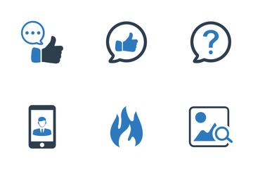 Social Media (Blue Series) Icon Pack