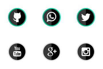 Social Media Flat Icon Pack