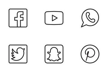Social Media Icon Icon Pack