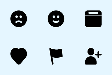 Social Media Interface Icon Pack