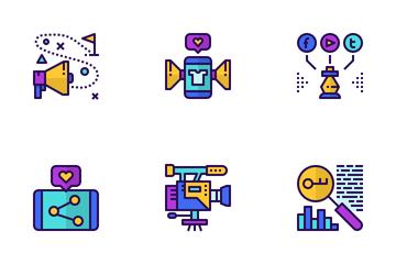 Social Media Marketing  Icon Pack