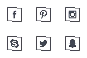 Social Media Outline Icon Pack