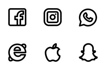 Social Media - Outline Icon Pack