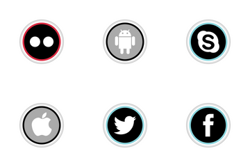 Social Media Round Color Icon Pack