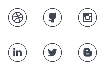 Social Media Round Solid Icon Pack