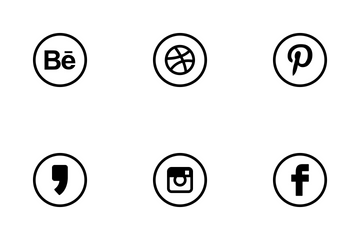 Social Media Rounded Icon Pack