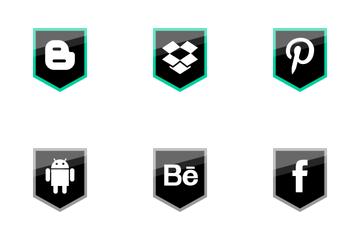 Social Media Shield Icon Pack