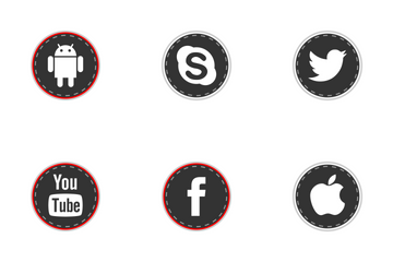 Social Media Stiches Icon Pack