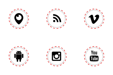 Social Media Stitches Icon Pack