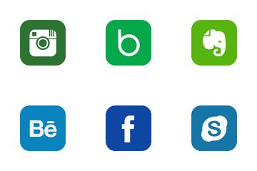 Social Network Company Icon Pack