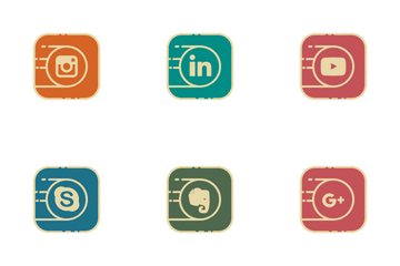 Social Round Icon Pack