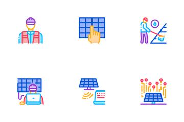 Solar Energy Technicians Icon Pack