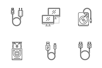 Сomputer Outline Icon Pack