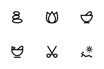 Spa Bold Line Icon Pack