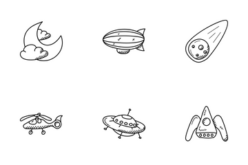 Space And Aircrafts  Icon Pack