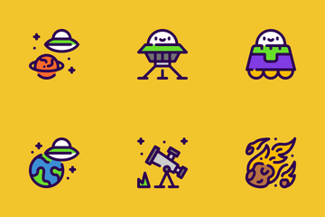 Space And Alien Icon Pack