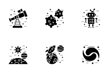 Space And Galaxy Icon Pack