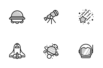 Space Chromatic Icon Pack