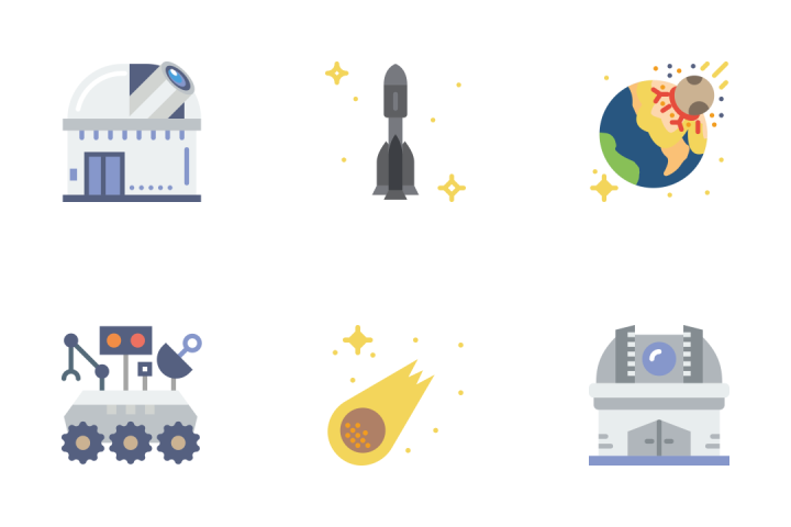 Space - Flat Icon Pack