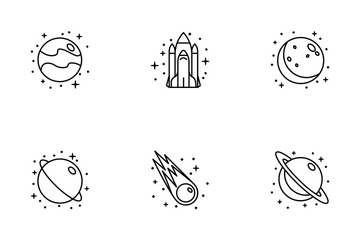 Space Line Iconset Icon Pack