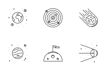 Space Outline Icon Pack